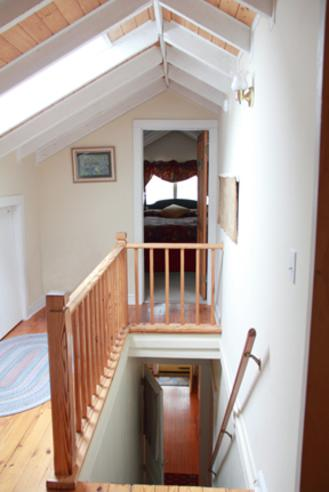 Upstairs rooms are tucked away for privacy with easy entrance at the Thurston House Inn Bed and Breakfast